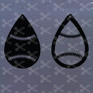 Baseball Earrings SVG File