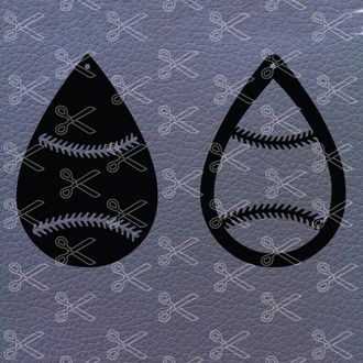 Baseball Earrings SVG File