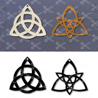 Celtic Earrings Template SVG and DXF Cut files