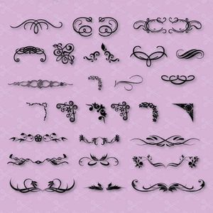 Decorative Elements SVG and DXF Cut File