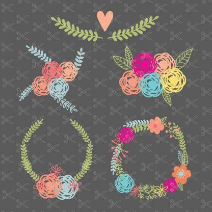 Floral Wreath SVG File