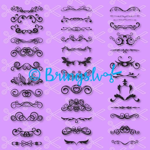 Swirls SVG and DXF Cut File