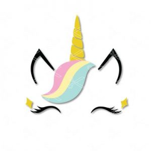 Unicorn Face SVG and DXF Cut Files