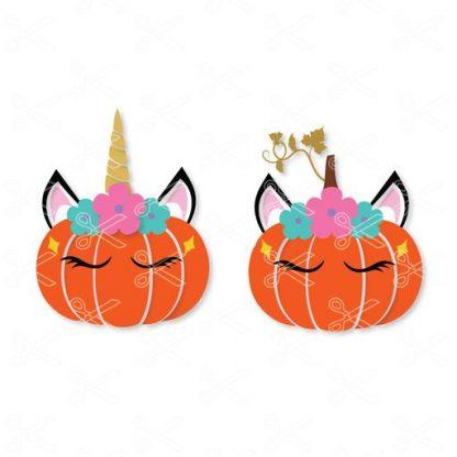 Unicorn pumpkin svg