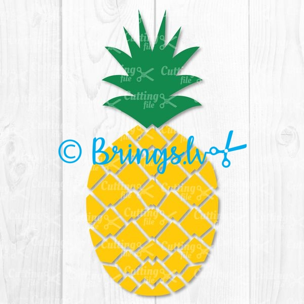 pineapple svg cut file