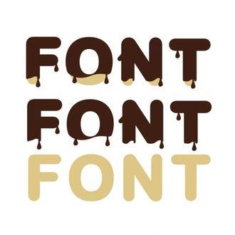 Chocolate Blood Alphabet Letters SVG
