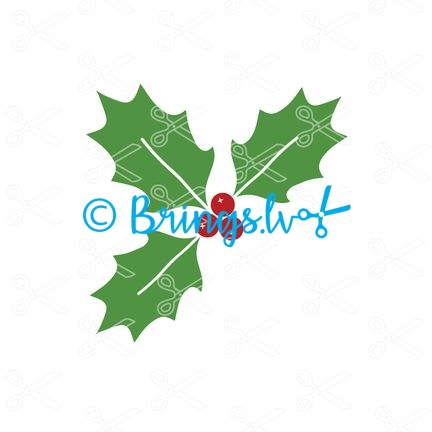 Christmas Holly SVG file - Christmas Holly SVG Cut File