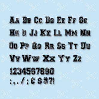 College Varsity Font Svg College Varsity Alphabet Svg