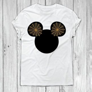 Disney Mickey Head Spider web T-shirt Design SVG and DXF
