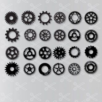 Gear SVG and DXF Steampunk Cogs Cut files