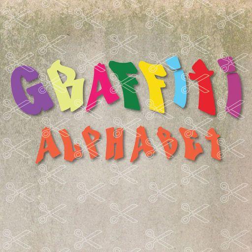 Graffiti Alphabet SVG and DXF Cut files