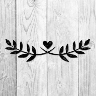 Laurel With Heart SVG