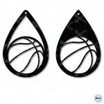 Basketball Sports Tear Drop Earrings SVG and DXF Cut files