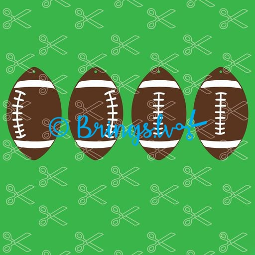 football earring bundle svg and dxf cut files - Football Earrings SVG and DXF