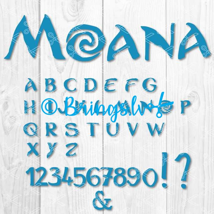 Moana Letters Svg Archives High Quality Vector Design Svg Dxf Png Cut Files