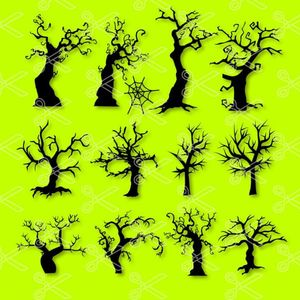 Scary Trees Bundle Halloween SVG and DXF Cut files