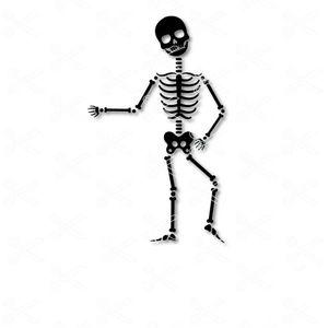 Skeleton Halloween Dance SVG and DXF Cut file