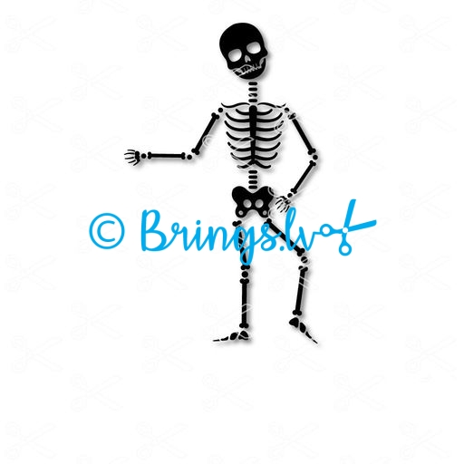 Skeleton Halloween Dance SVG and DXF Cut file