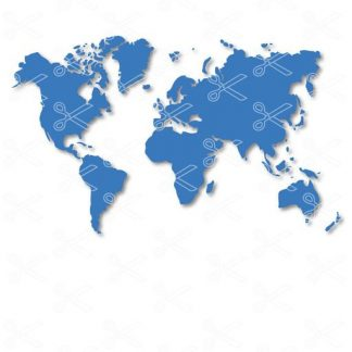Download World map Clipart SVG and DXF Cut files