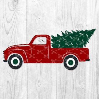 Christmas Truck SVG File