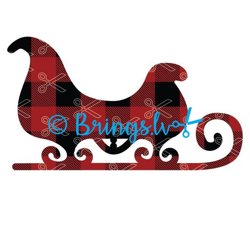 Christmas sleigh Santa sledges SVg and DXF Cut files 1 - Santa Sleigh SVG DXF Cut Files