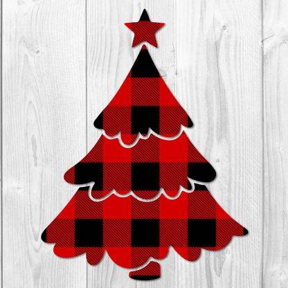 Christmas Tree Buffalo Plaid SVG