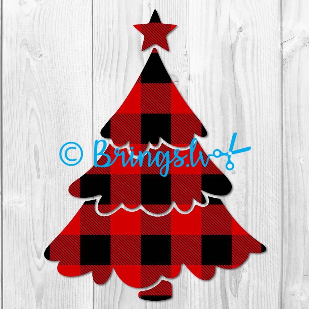 Christmas Tree Buffalo Plaid SVG