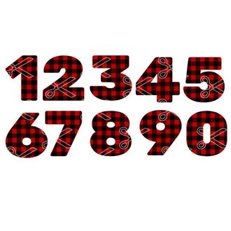 Download Plaid Numbers 1 to 10 SVG and DXF Cut files and use it to your DIY project!