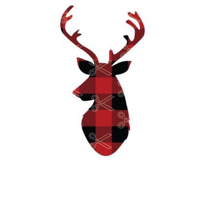 DOWNLOAD REINDEER HEAD BUFFALO PLAID SVG AND DXF CUT FILES AND USE IT TO YOUR DIY PROJECT!