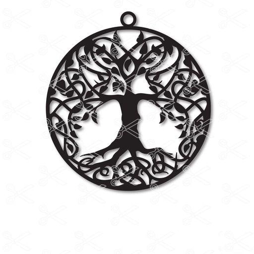 Tree of life dangle drop round earrings - Tree of life round dangle drop earrings