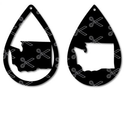 Download Washington State Tear Drop Earrings SVG and DXF Cut files and use it to your DIY project!