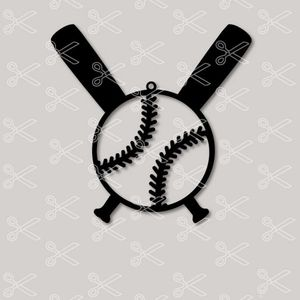 Download Baseball Earrings SVG and DXF Cut files and use it to your DIY project!