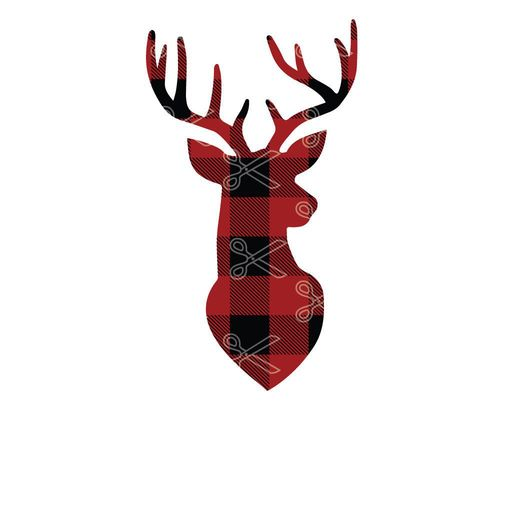 Download Buffalo Plaid Christmas Deer SVG and DXF Cut files and use it to your DIY project!