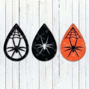 Download Halloween Spider Web Tear Drop Earrings SVG and DXF Cut files and use it to your DIY project!