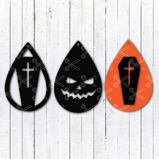 Download Halloween Scary Face Tear Drop Earrings SVG and DXF Cut files and use it to your DIY project!