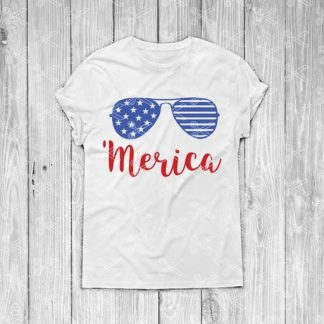 Merica with Sunglasses - fourth of July SVG