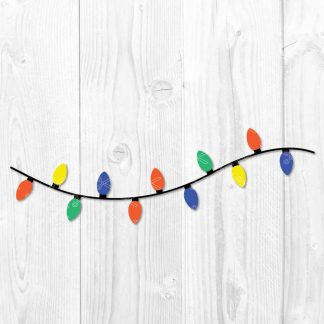 Christmas Lights SVG File