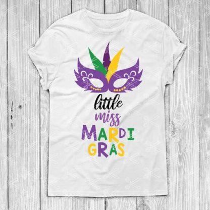 LITTLE MISS MARDI GRAS SVG