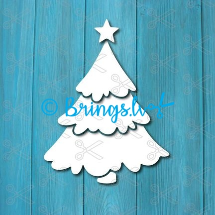 christmas tree dxf svg cut files - Christmas tree SVG DXF