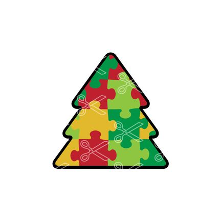 awareness christmas tree svg