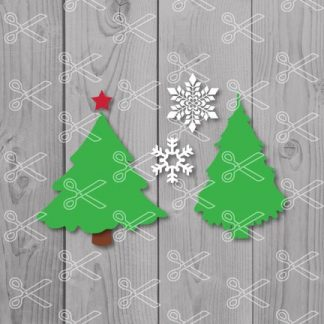 Free Christmas Tree Svg Cut File