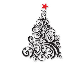 Download Christmas tree swirl SVG and DXF Cut files and use it to your DIY project!