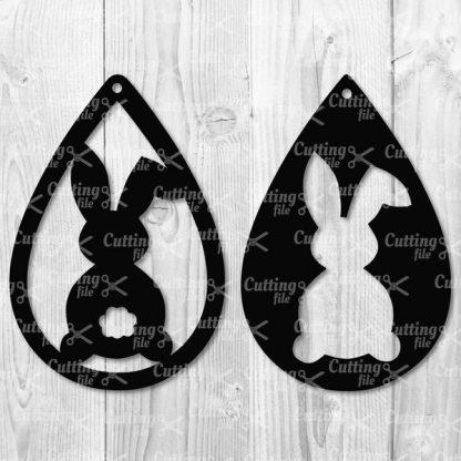 EASTER BUNNY TEARDROP EARRING SVG FILES