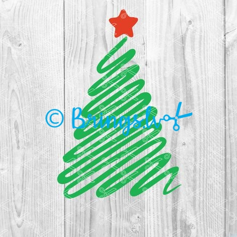 Download Hand drawn Christmas tree SVG and DXF Cut files and use it to your DIY project!