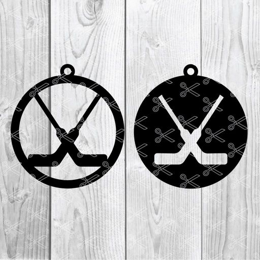 Hockey Earring SVG and DXF Cut File