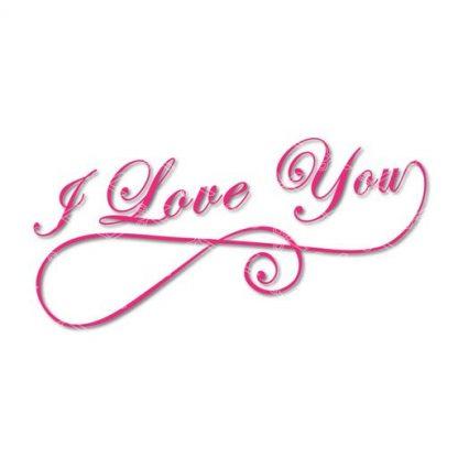 i love you svg