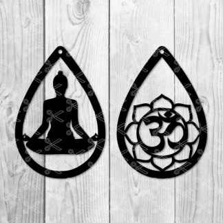 yoga earring svg