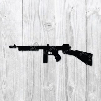 Thompson submachine gun svg