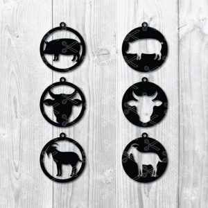 farm earrings svg file