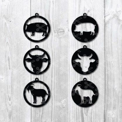 farm earrings svg file
